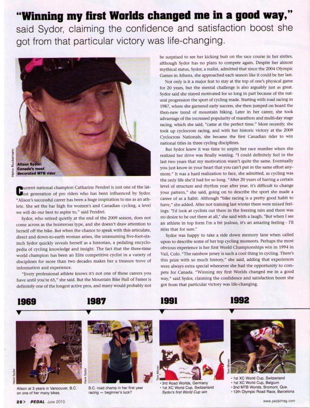 Alison Sydor Profile 2010 P2