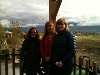Me and my new friends Cindy and Donna, tasting at Misconduct Winery in Penticton.