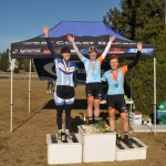 First ever CX win for me! (l-r): Jean Ann, Me, Steph.