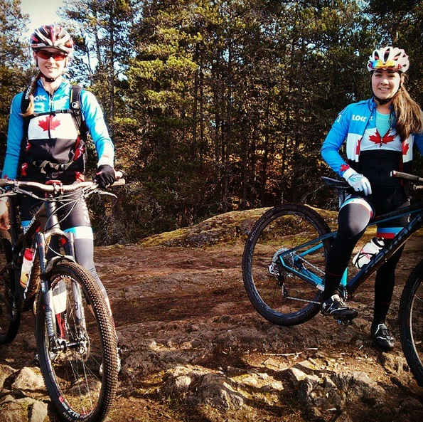 Riding with the girls - Haley and Rachel.