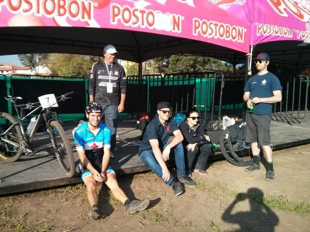 Marc-Andre, Carlos, Justin, Tara, and Adam at the Team Canada tent.