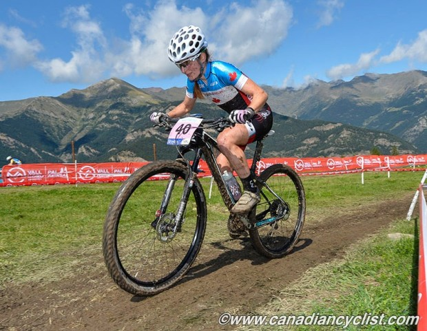 Sandra Walter gasping thin air in Andorra Photo Rob Jones